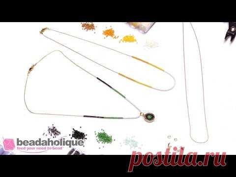 How to Make a Delicate Seed Bead Color Blocked Chain Necklace