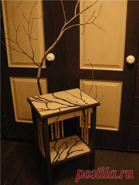 Trees on a bedside table. (The description by clicking on the picture).