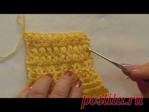 научу вязать крючком урок 8 пышные столбики вязание постила