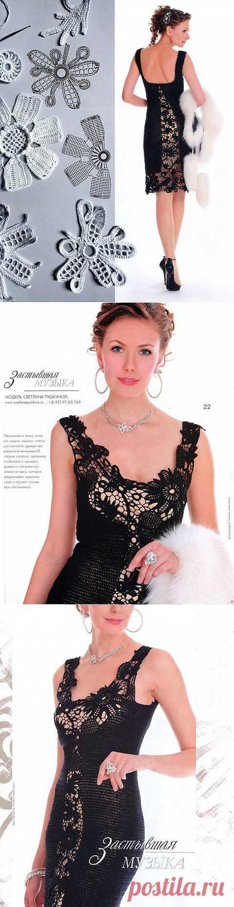 Блоги@Mail.Ru: Потрясающее платье с элементами ирландского кружева