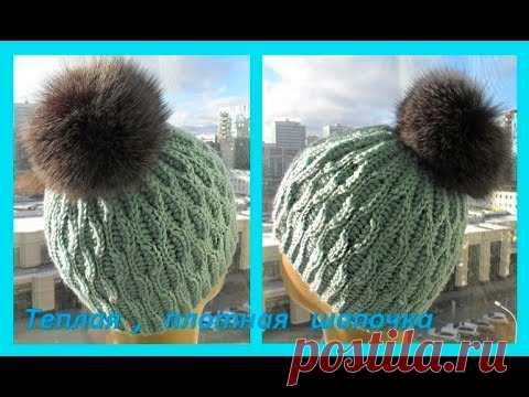 El gorrito caliente denso por el gancho, crochet hat (el Gorro №103)