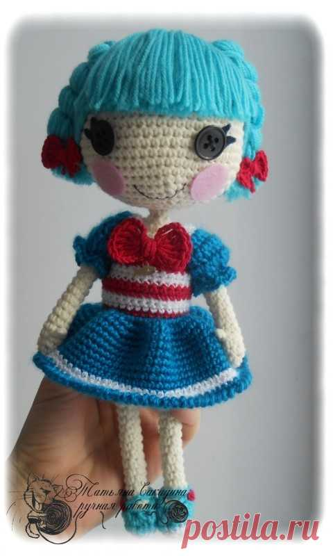 Knitted hook doll of Lalalupsi of the Seaman