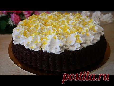 Супер !!! ВКУСНЕЙШИЙ Шоколадный Торт с зефирным кремом. Рецепт АПЕЛЬСИНОВОГО зефира