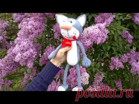 El gato Filip por el gancho - más interesante. La revista. Tejemos el juguete. (Amigurumi Crochet cat)