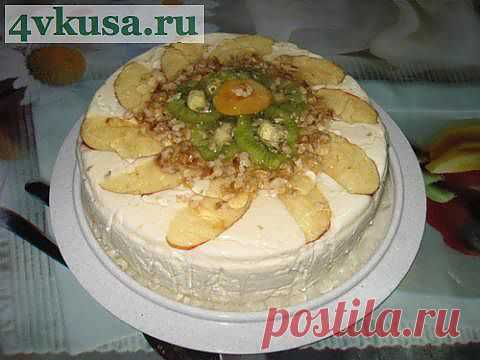 "Торт ""МОРОЗКО"" (торт без выпечки). Фоторецепт. | 4vkusa.ru"
