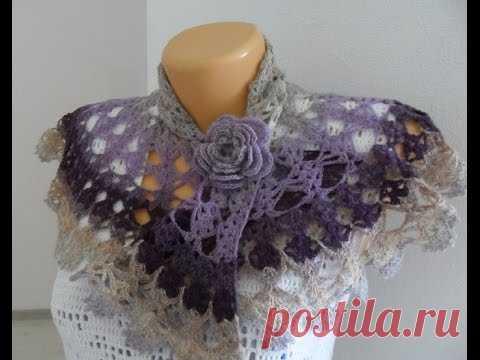 El aumento chiné de Kauni por el gancho (mini shawl)