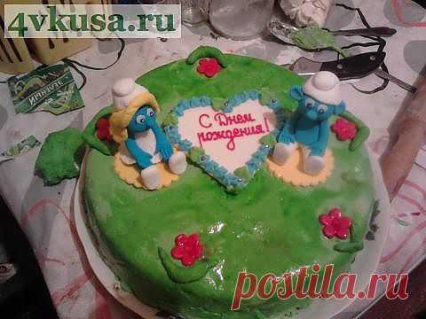 Торт сынульке на 5 лет!   4vkusa.ru