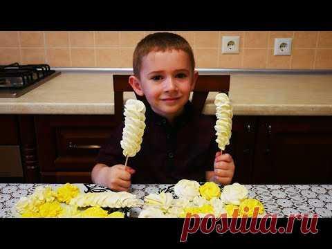 Рецепт БЕЗЕ для ДЕТЕЙ для УКРАШЕНИЯ ТОРТОВ на ВОДЯНОЙ БАНЕ простой рецепт НЕЖНОГО безе