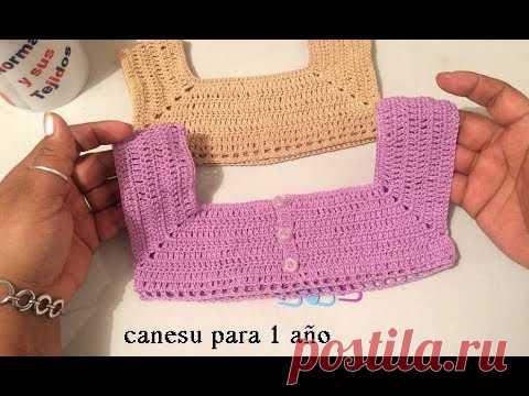 Canesu en crochet para 1 año