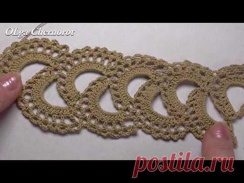 El encaje de cinta. El encaje por el gancho. Ribbon Lace Crochet