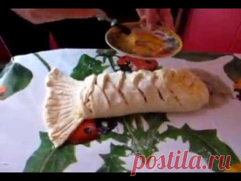 Слоёный рыбный пирог. Puff pastry fish pie!