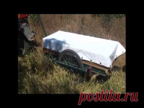 self-made scooter trailer