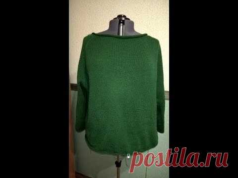 We knit a dress the EMERALD (on solid ladies and not only) Chast.4