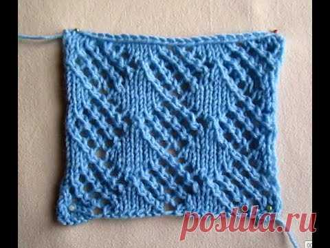 """ВЯЗАНИЕ ВЕСЕННЕГО УЗОРА """"РОМБИКИ"""".Knitting!"""