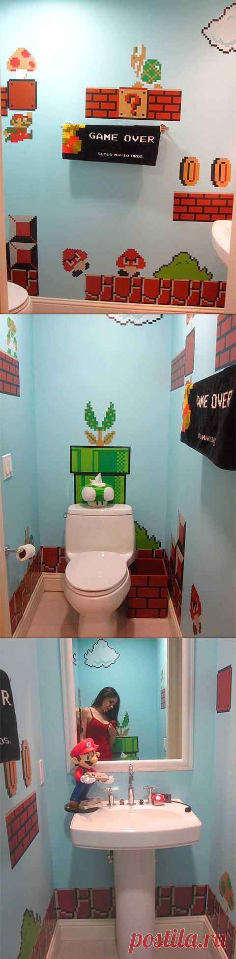 Туалет в стиле Марио / Ванна / ВТОРАЯ УЛИЦА
