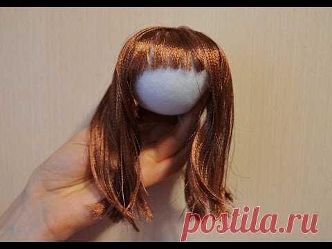 Волосы из атласной ленты / Hair of satin ribbons - YouTube