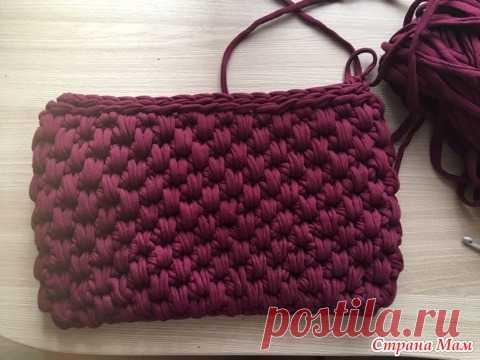 7b4d4a7143fd Мастер-класс по вязанию сумочки из трикотажной пряжи - Вязание - Страна Мам