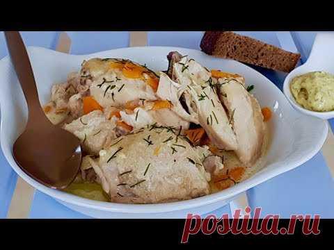 Вспомните этот вкусный рецепт и приготовьте снова!! Пикантная  курочка в сливках.Рецепты с курицей.