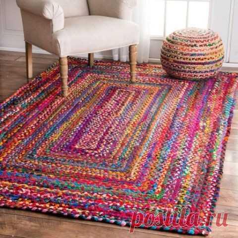 Красивые самодельные украшения для дома своими руками: этнический коврик Крутой коврик своими руками