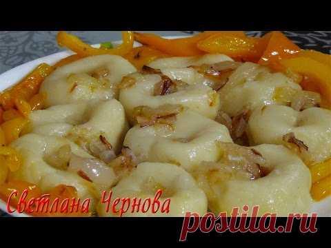 Картофельные галушки с овощами (постные ) /Potato dumplings with vegetables (lean)