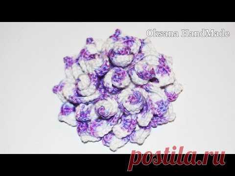Decorative flower hook. Master class. DIY Bulk flower crochet fans