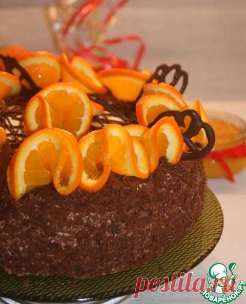"""Блинный торт """"Цитрус"""" - кулинарный рецепт"""