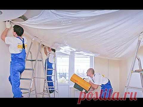 Ремонт Квартир в Кишиневе, Цены доступные / Французские натяжные потолки в новостройке.