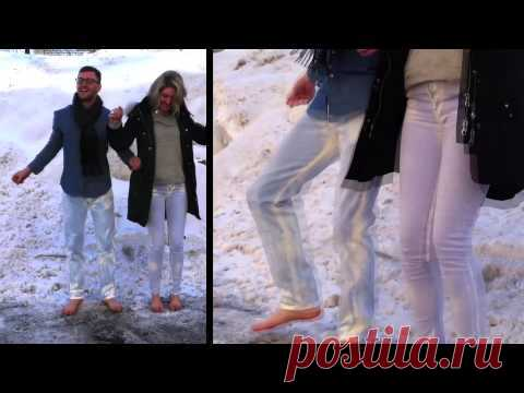 Fashionable novelty - the jeans changing color