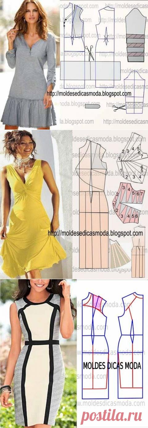 Простые выкройки и моделирование летних платьев №9