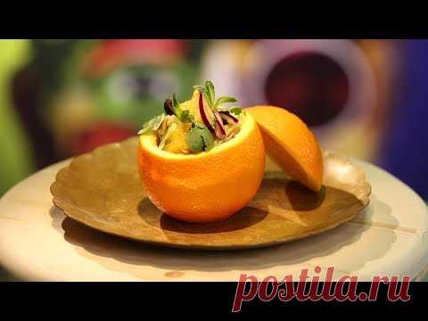 Рецепт недели: салат в апельсине