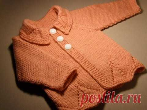 Jacket a raglan connected from below. Size 1 year. Part 3 - YouTube
