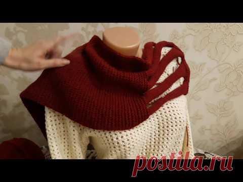 Снуд - шарф спицами. Часть 3.