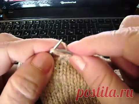 Пятка бумеранг boomerang heel. Как научиться вязать. Уроки вязания для начинающих