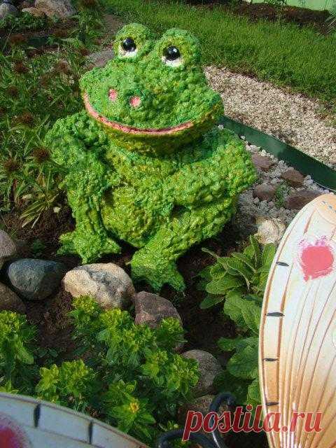 Садовые скульптуры из монтажной пены!!!!(идеи для дачи и детсадов)
