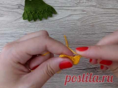 Схема как связать листик крючком от Katkarmela