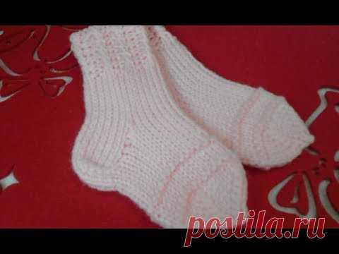 Knitting Needles For Children носочки спицами для новорожденного