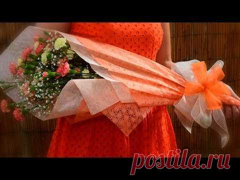 Подарочная упаковка с цветочным букетом