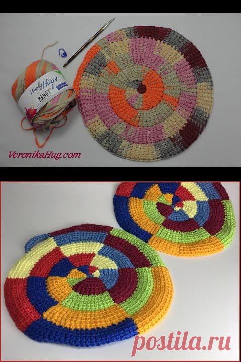 тунисское вязание по кругу технология вязания крючком постила