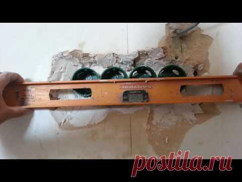 Плохие последствия монтажа электропроводки перед штукатуркой и их устранение.