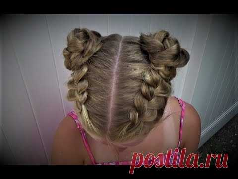 Double Buns Star Wars Hairstyle. Причёска Принцессы Леи.