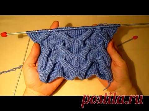 Узор КОРОЛЕВСКАЯ КОСА! Вяжем шикарный узор!Вязание для начинающих.knitting