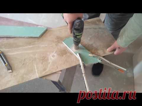 Как в плитке сделать отверстие без особых приспособлений