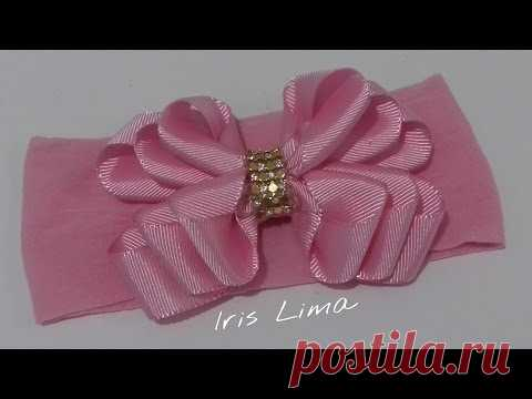 Como fazer laço de fita de gorgurão com 3 camadas DIY, TUTORIAL, PAP By Iris Lima
