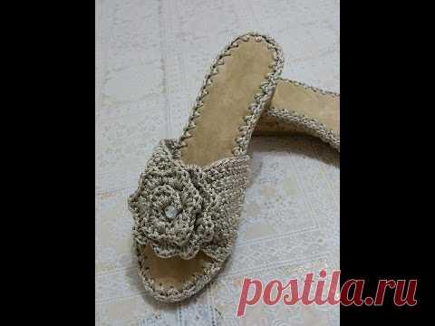 Sandalo  Malta  1A PARTE UNCINETTO -CROSCET SHOE   Вязаная обувь ... bfc2b70d816