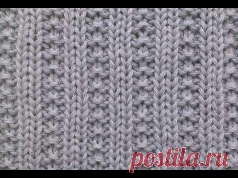 ВЯЗАНИЕ СПИЦАМИ БИСЕРНАЯ РЕЗИНКА №2!Подробное обьяснение  Knitting