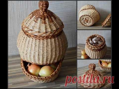 La cesta para la cebolla y el ajo (2 parte).