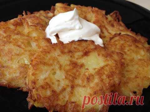 Draniki (Deruny) - sabroso + la Salsa Especialmente Para Ellos   Potato Pancakes, English Subtitles