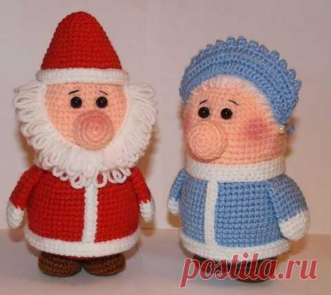 Дед мороз крючком, 23 модели с описанием, схемами вязания и видео уроками