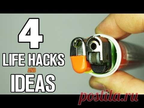 4 incredible Life Hacks and ideas - YouTube