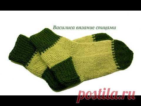 Носки спицами с двойной пяткой / Василиса